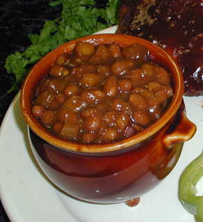 BAKED APPLEBEANS with PECANS