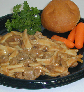 BEEF & NOODLES with Gravy